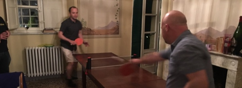 improvised pingpong