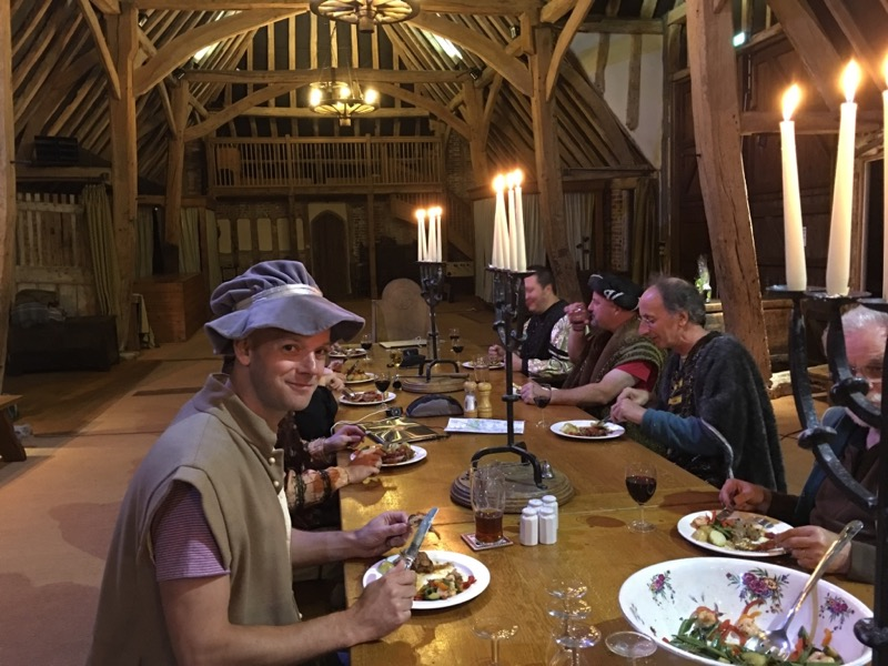 Dinner, Milden Hall barn